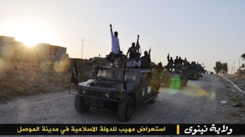 Photo of ISIS convoy entering  a city